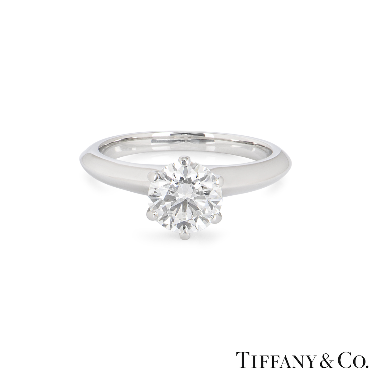 Tiffany & Co. Platinum Diamond Setting Ring 1.21ct I/SI1 XXX